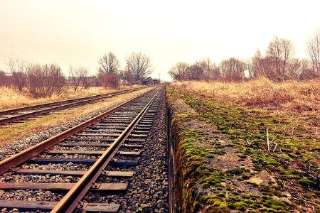 railroad tracks in the oklahoma countryside