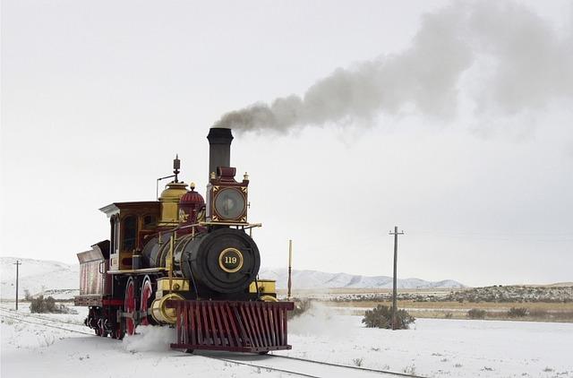 old-fashioned steam locomotive